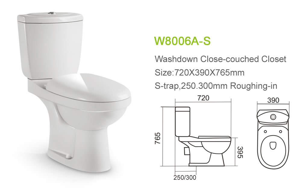 Light Green Bathroom Set Toilet Bowl
