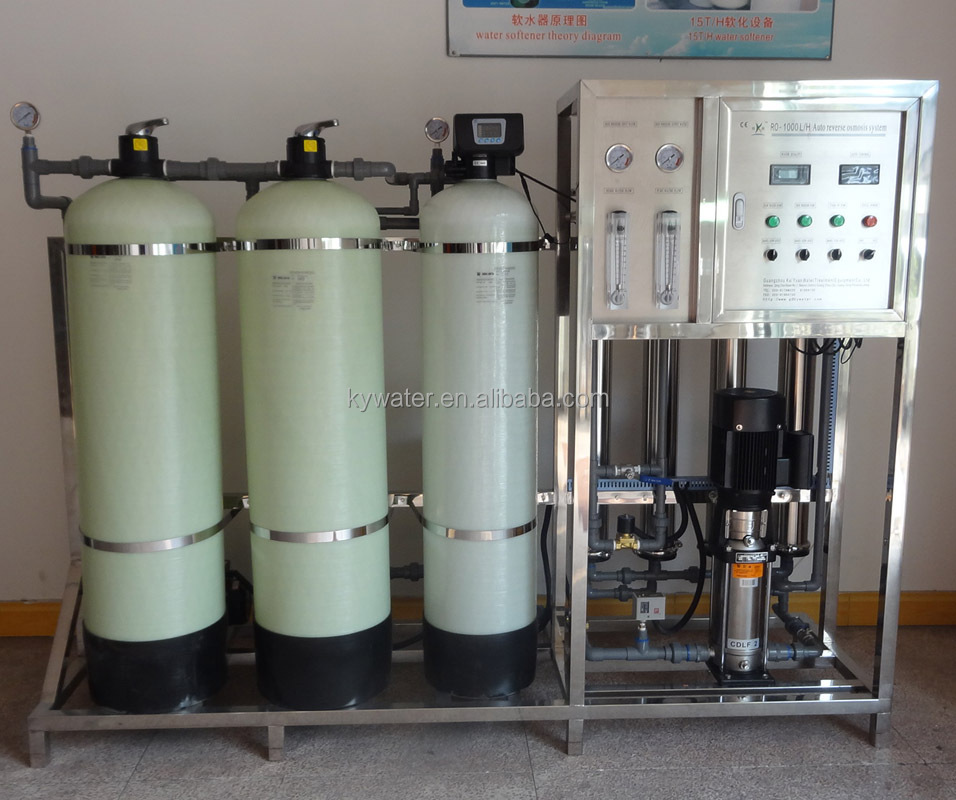 1000 Liter/hours Pure Water Ro System Water Purification Plant ...