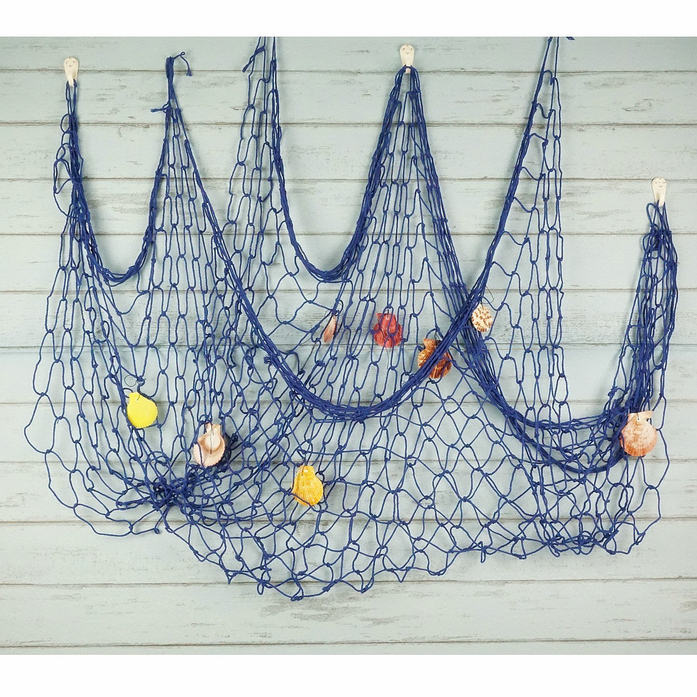 Wall Hangings Decor,Mediterranean Style Photographing Decoration Bilipala Fishing Net Decor,Fishing Net Creamy White