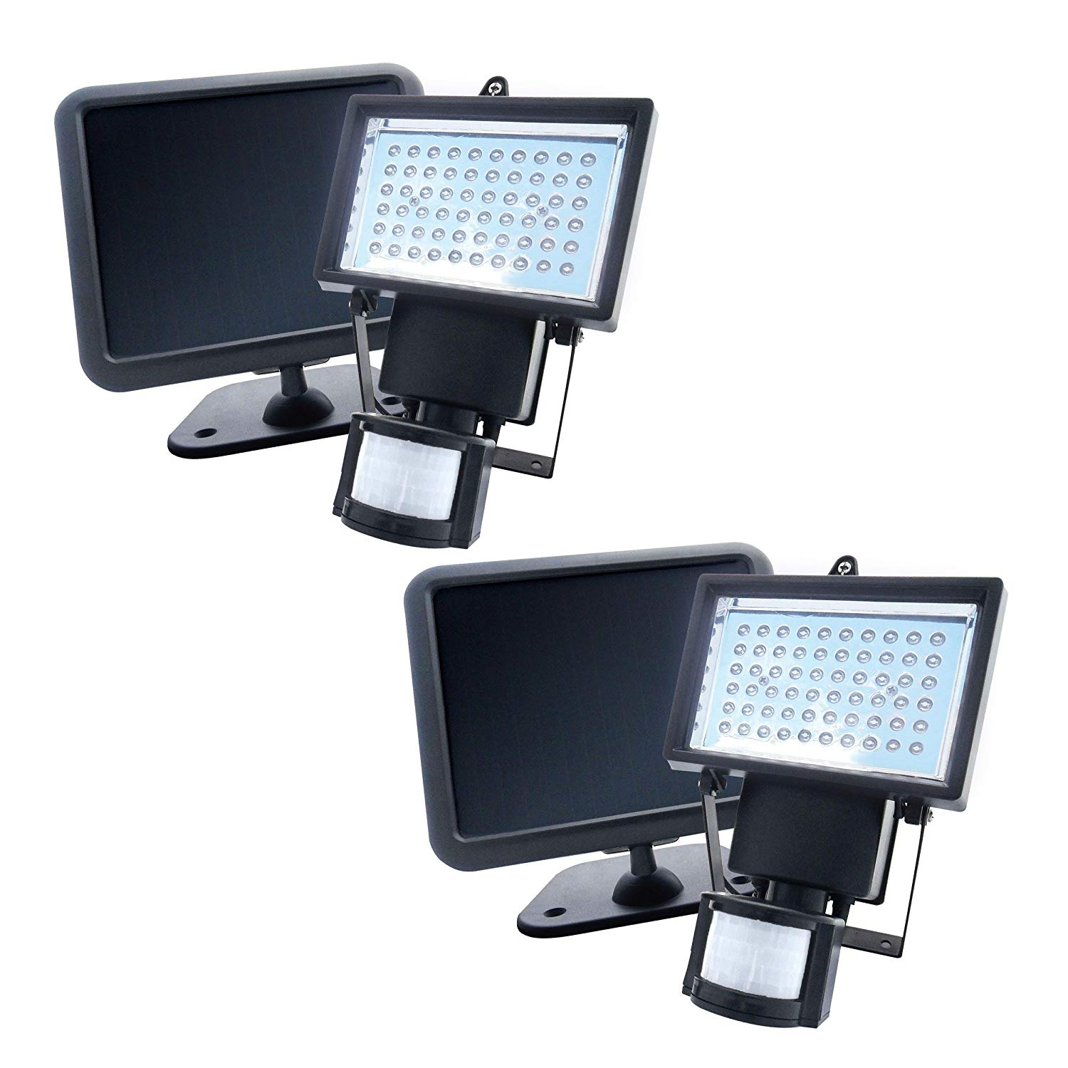 Nature Power 60 LED Solar Powered Motion Activated Security Light (2-pack)