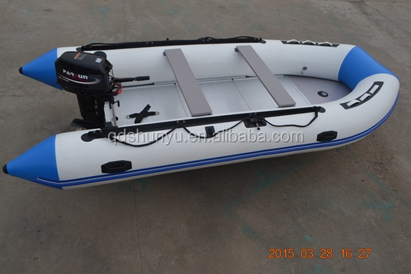 4.3m aluminum inflatable pvc boats for sale for 8 persons