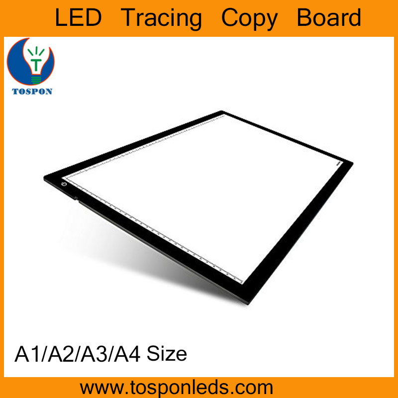 Artistic LED ultrathin light copy board / LED tracing table box light pad