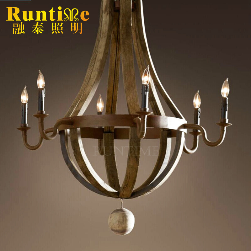 High Quality Funny special Indoor Lighting with round wooden pendant lights RT5002-D6A