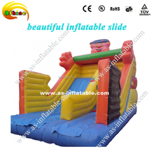 2016 Happy zoo park giant inflatable slide, juegos inflables