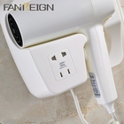 Professional Hotel Equipment Electric Wall Mounted Hair Dryer With Socket