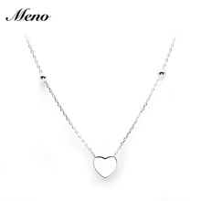 Cheap Fashion Turkish High Quality Sterling Silver Heart Necklace Jewelry