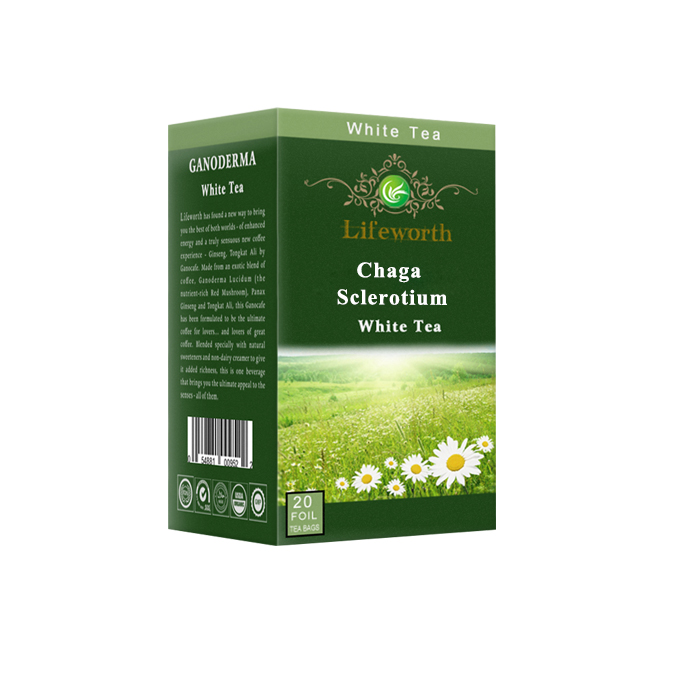 Lifeworth instant white tea with chaga powder - 4uTea | 4uTea.com