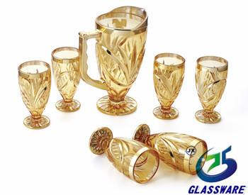 7pcs Glass Water Set,Glass Lemon Set