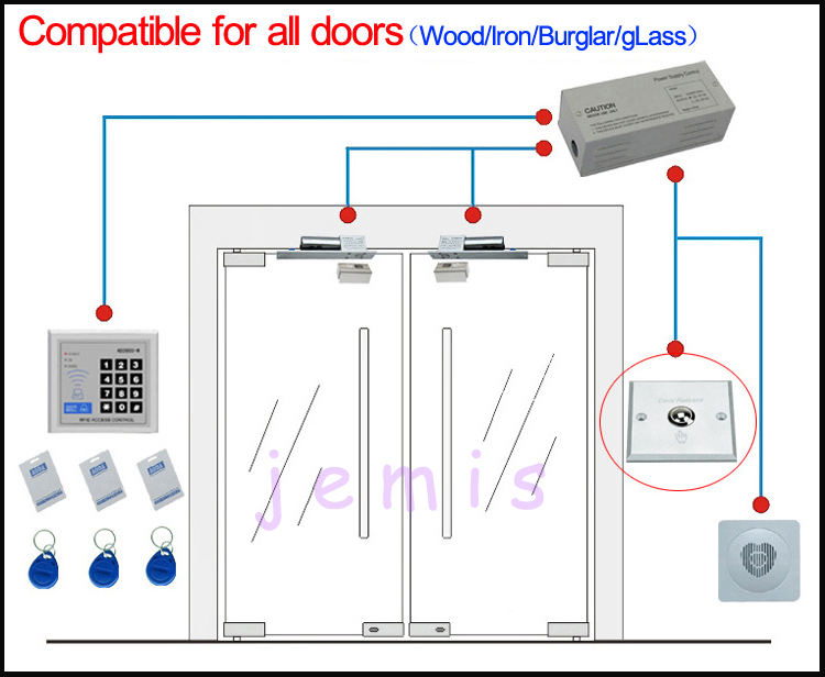 Glass Door Electric Bolt Lock Electric Drop Bolt Lock