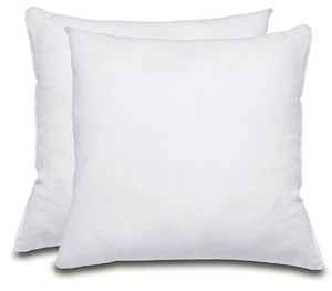 Decorative Pillow Sofa and Bed Pillow Insert Microfiber Cover Indoor White Pillows