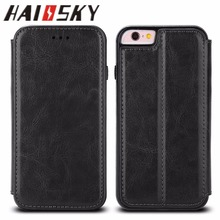 HAISSKY PU leather cover case, Card holder case, Stand case mobile phone accessriest for Iphone 6