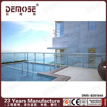 Tempered glass cover railings balconies for swimming pool buy frameless glass balcony railing - Advantage using tempered glass fencing swimming pool balcony deck ...