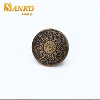 garment accessories custom jeans button with logo