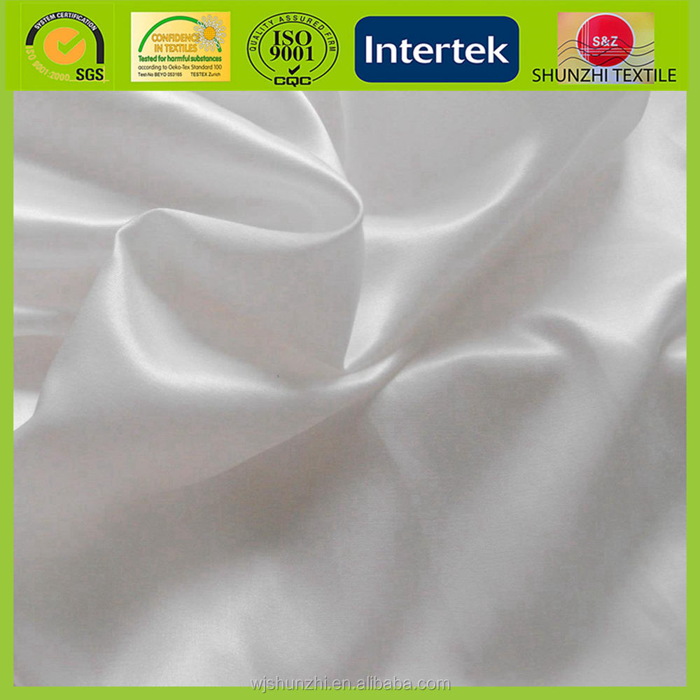 new Wholesales 100% polyester satin fabric for bride wedding cloth