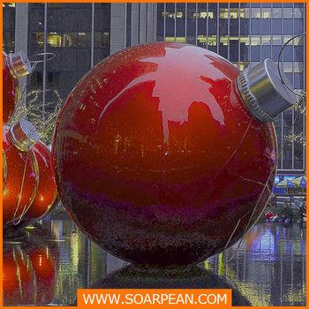 custom fiberglass giant christmas ball - Giant Christmas Balls