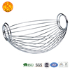Designer high quality decoration kitchen vegetable storage stainless steel mesh metal wire fruit basket