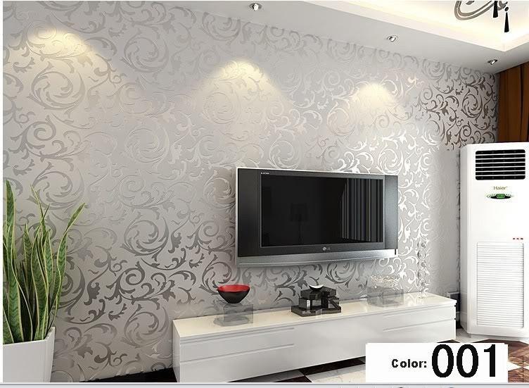 moderne 3d hintergrund vinyl tapete f r wohnzimmer gold und silber gestreifte. Black Bedroom Furniture Sets. Home Design Ideas