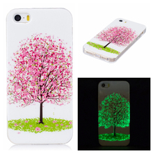 Factory Direct Sale IMD + TPU Luminous Phone Cover For iPhone 5S/SE