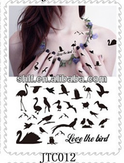 Shanghai lingfeng waterproof temporary swallow tattoo sticker