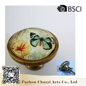 Chinese imports wholesale Alloy, Glass Materials decorative drawer knobs