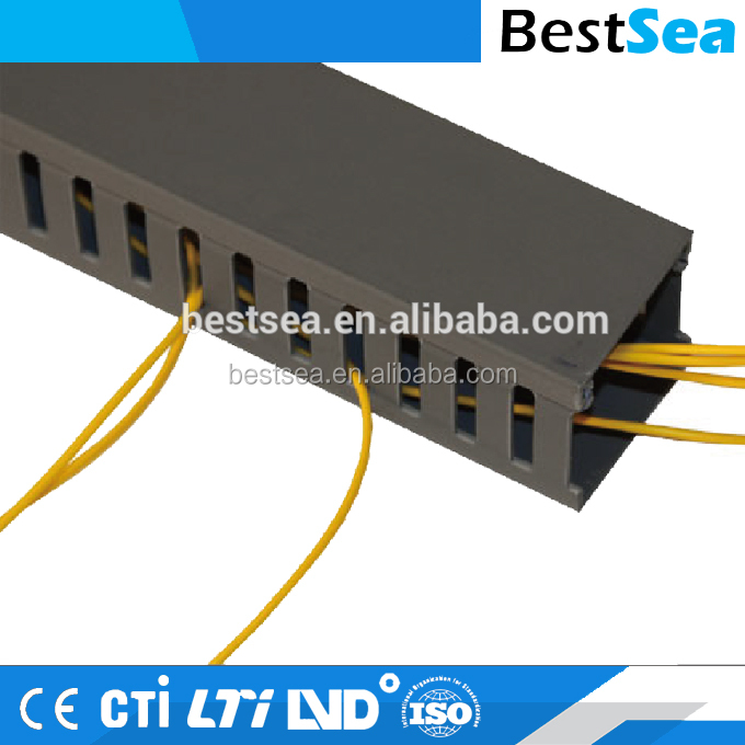 Electrical conduit square plastic flexible, black transparent cable ducts