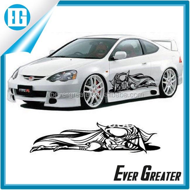 Car body sticker design on car fashion design car decal for body sticker