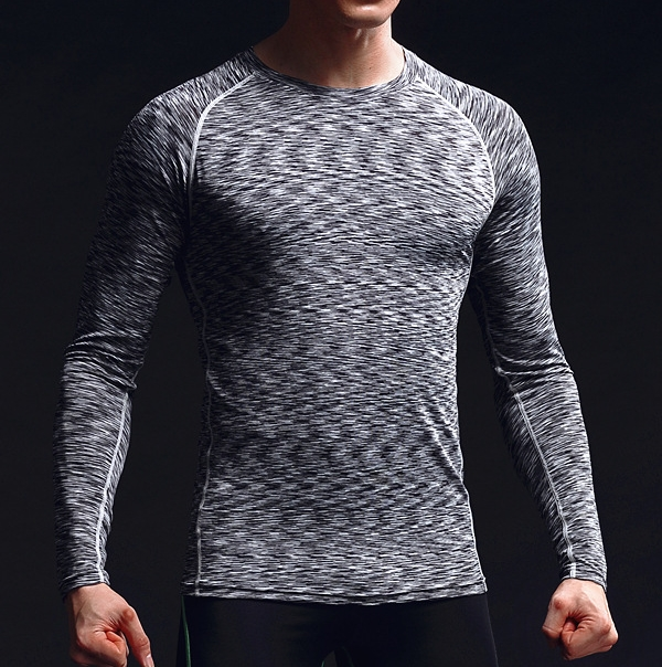 Wholesale compression tight sweatshirt fitness clothes men sport tops gym t shirts
