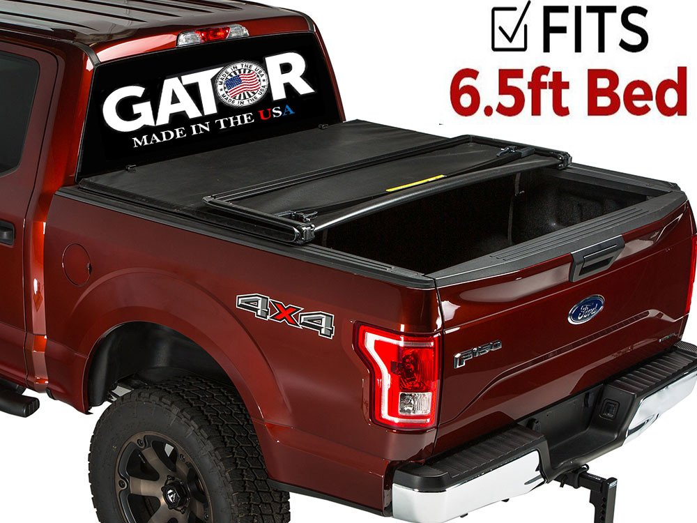 Gator Tri-Fold Tonneau Truck Bed Cover 2009-2014 Ford F150 2009-2014 6.5 ft Bed