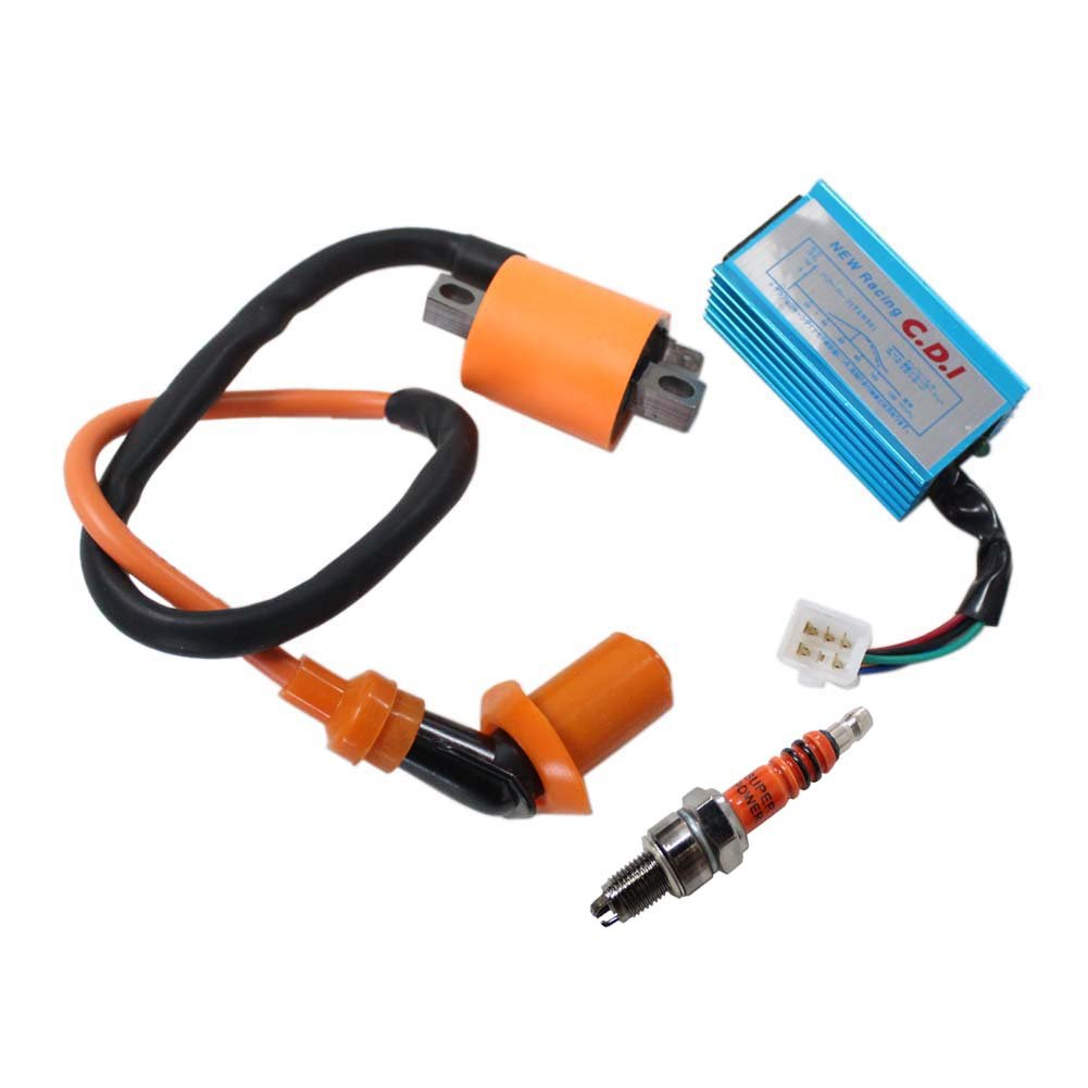 New Pack of Racing CDI + Ignition Coil + 3 Electrode Spark Plug for Honda Xr50 Crf50 50 70 110 125cc Dirt Pit Bike