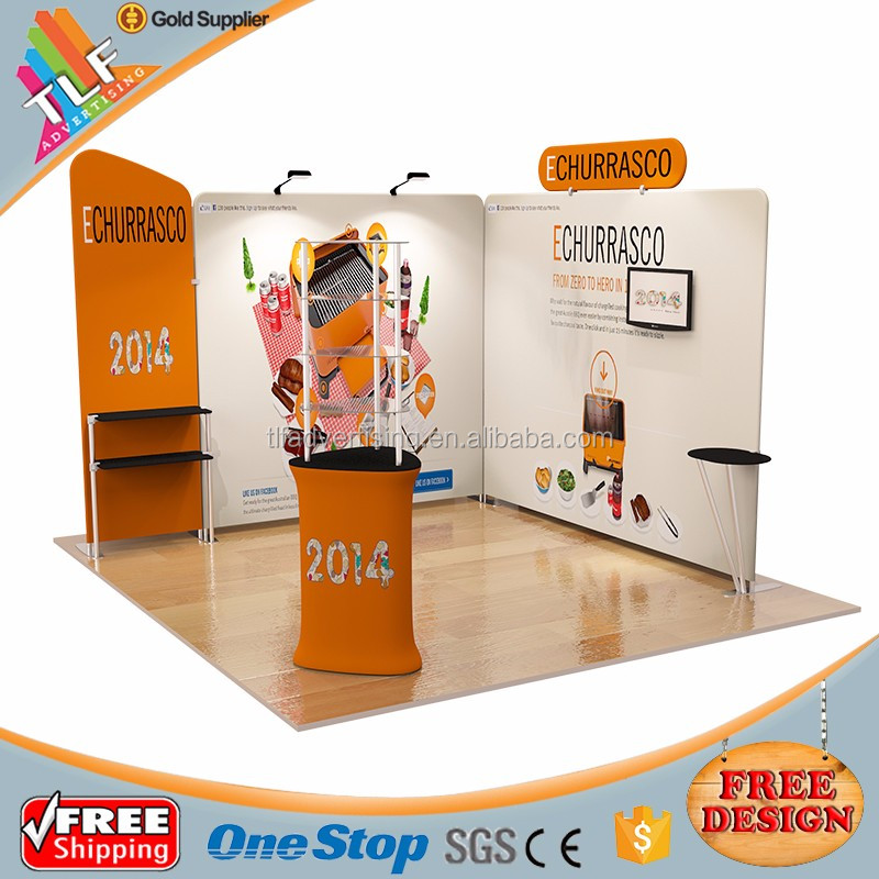 Magnetic Portable Pop Up Booth Backdrop Displays Stands