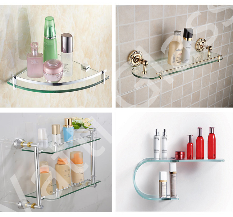 Qingdao Vatti Glass High Quality Best Price Modern Decorative Glass Wall  Shelf(bathroom Glass Shelves