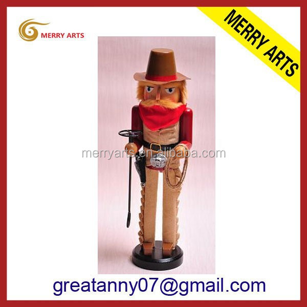 jinhua latex new products abstract modern figure painting wooden nutctacker dolls
