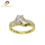 Sam Jewellery Twist 5 Prong Setting Curved  CZ gold wedding ring