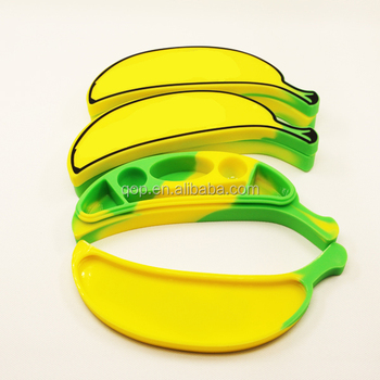 No Sticky Bho Extractor New Fda Banana Dab Wax Silicone Container Silicone  Jar For Dabber Tool