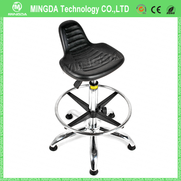 High quality PU Foam Height Adjustable ESD chair with footrest and armrest , esd cleanroom chair