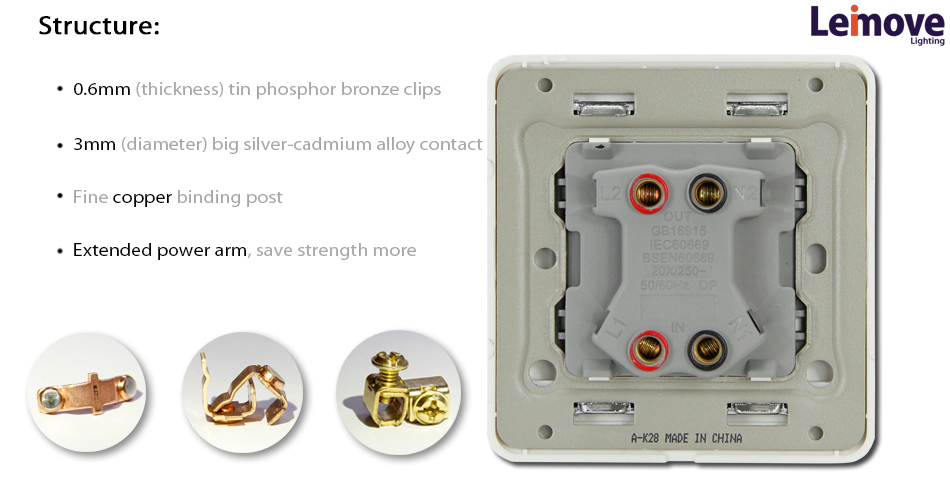 Self-powered Battery-free Wall 90*86*37 omron limit switch