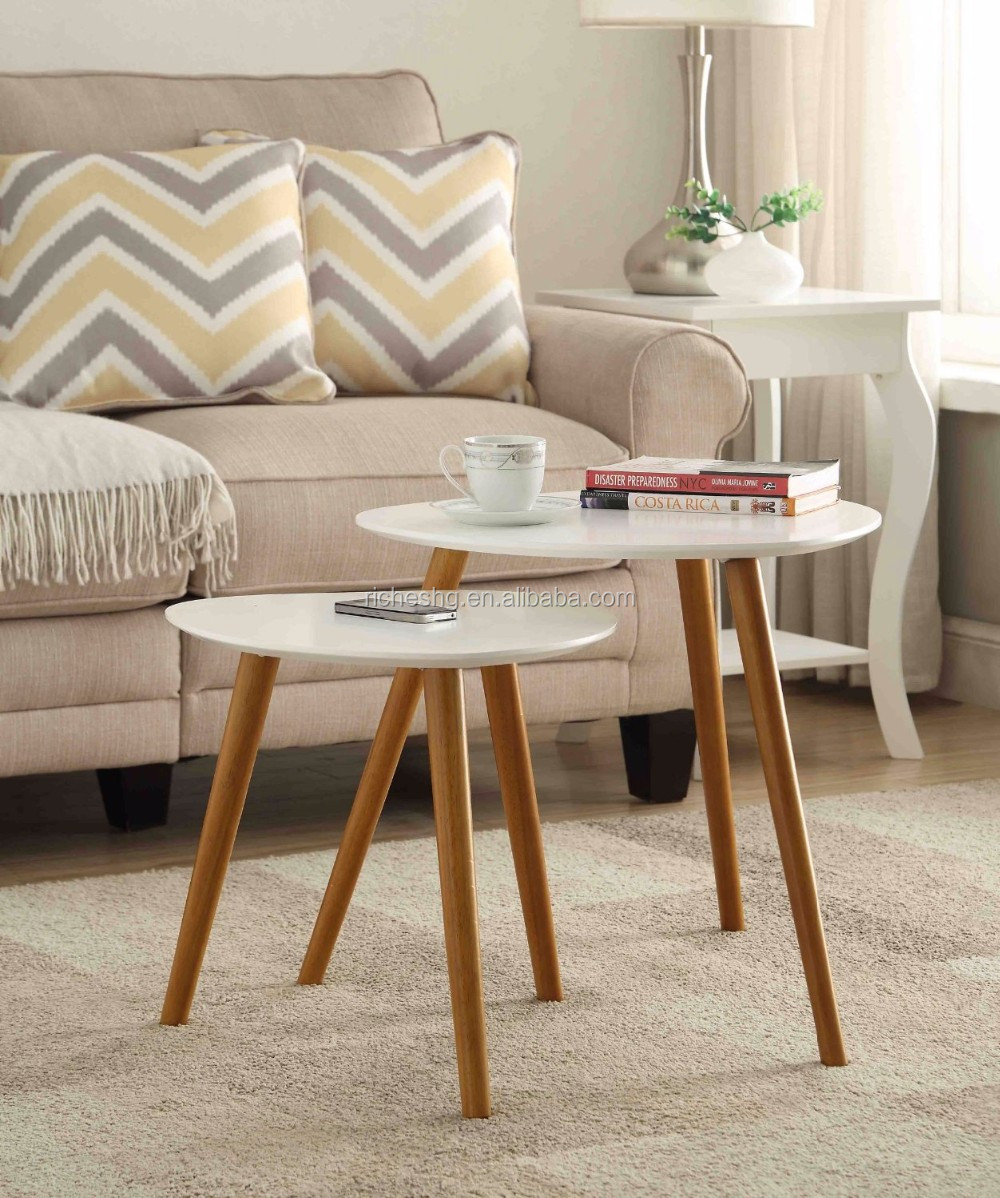 three hairpin legs modern tray top sofa side table wood round small coffee table rustic end