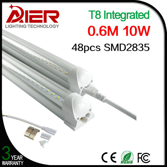 2ft led integrated tube light 600mm 10Watt warm white natural white cold white