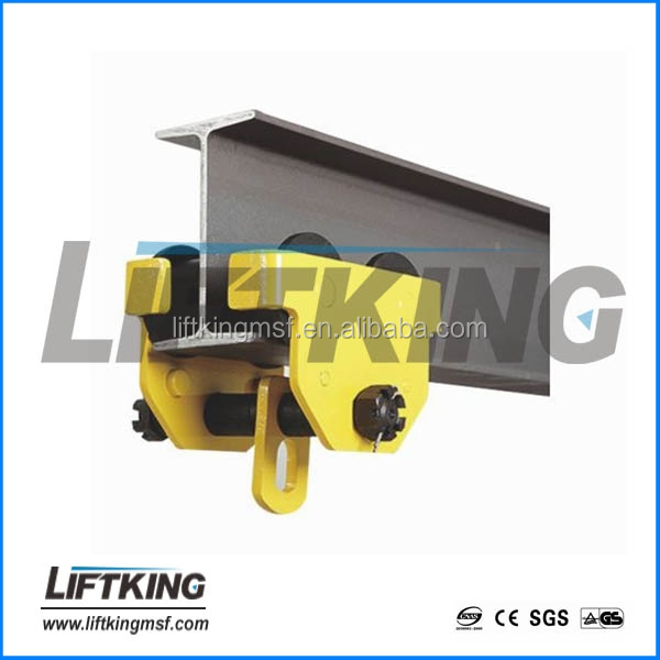hand pushed trolley for chain hoist , capacity from 0.5t to 10t