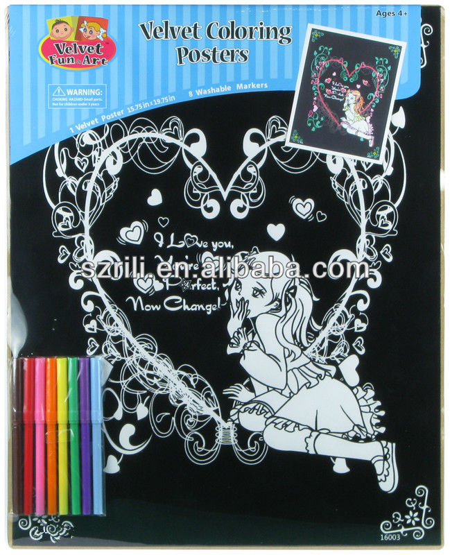 Easter Fuzzy Poster/wholesale Black Velvet Coloring Posters - Buy ...
