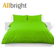 ALLBRIGHT 100% cotton pure bed sheets/ solid color luxury bed sets