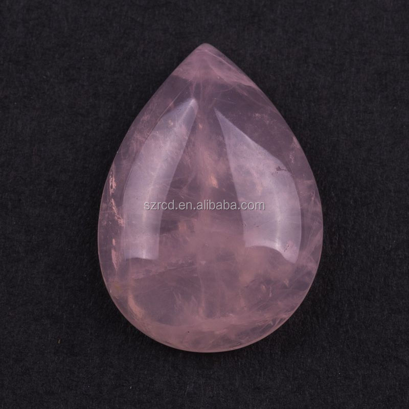 Factory supply rose quartz pear cabochon for pendant