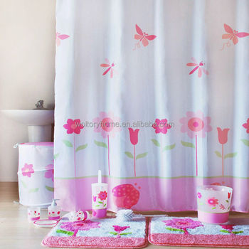 Romantic Bathroom Set In Match Design, Secret Garden Bath Set For Girls, Shower  Curtain