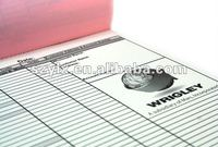 3-part A4 carbonless sales order forms printing with sequential numbering