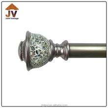 Professional manufacturer decorative triple glass curtain rod bracket finials wholesale