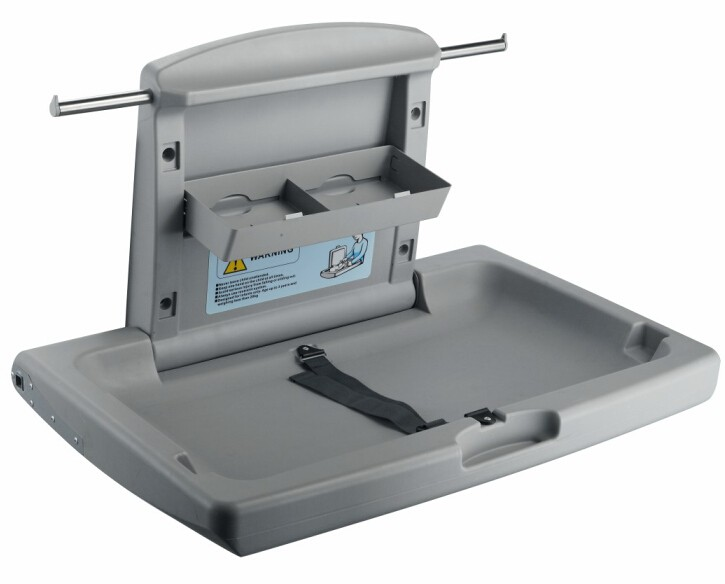 Wall-mountec Plastic folding baby changing station table