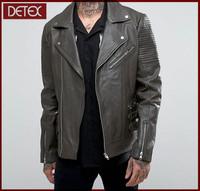 Buy Wholesale Bike Leather Look Jacket With Jersey Hood Men wear ...