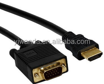 Pc Hdmi Vga Adapter Cable Svga Rgb Video Audio Cable Converter ...