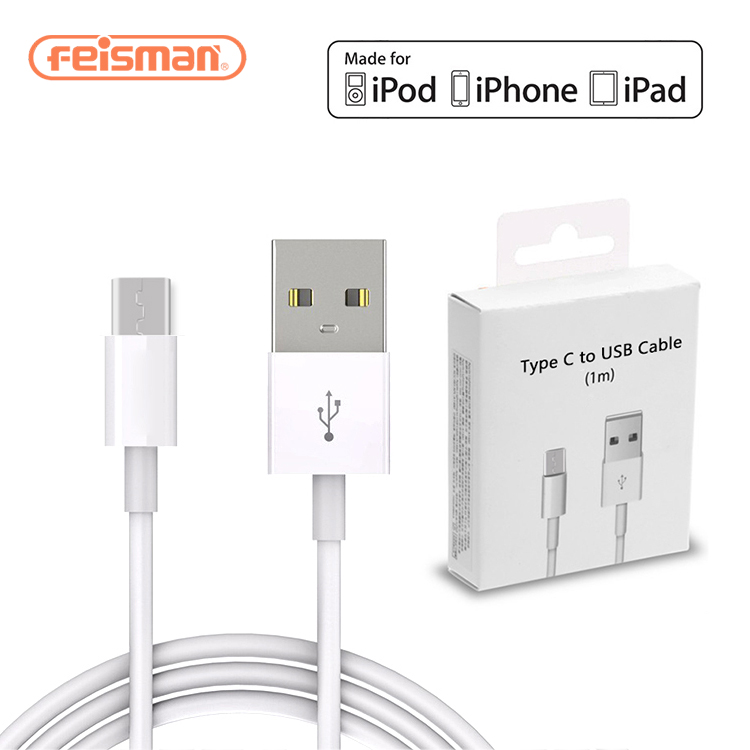 Originele mfi Foxconn Charger Opladen Kabel voor iPhone X XS Max XR 8 7 6 plus