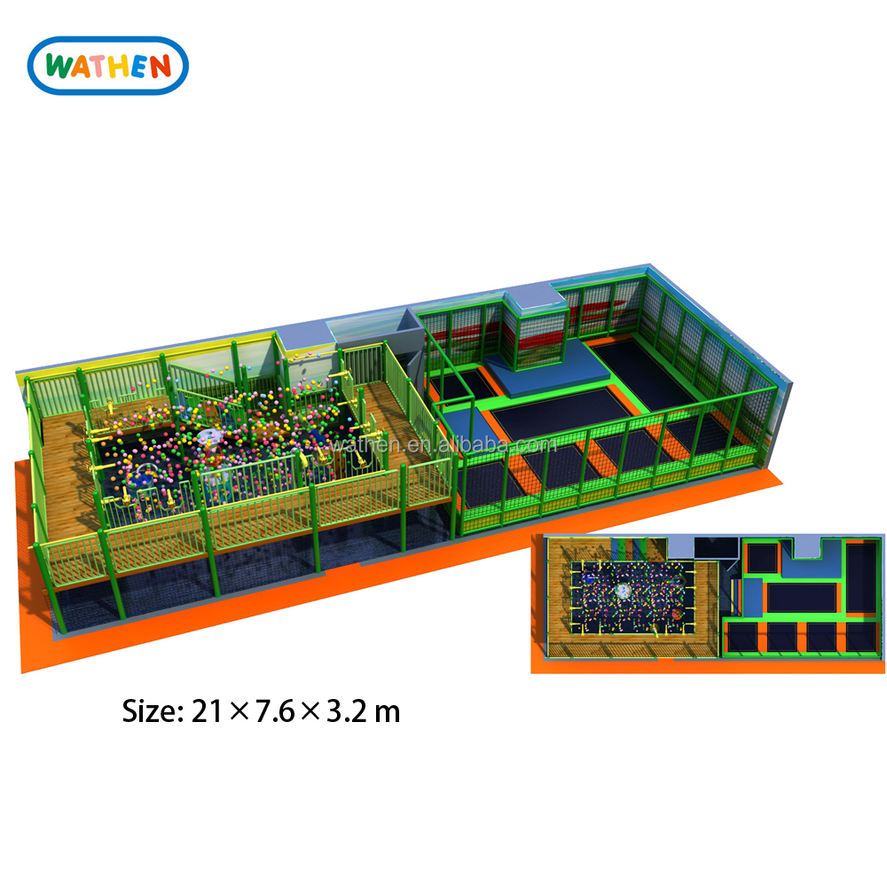 Hot Sale Trampoline and Guns Area Kids Indoor Playground Equipment